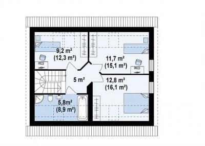 Каркасный дом №118Р3