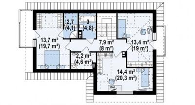 Каркасный дом №169Р2