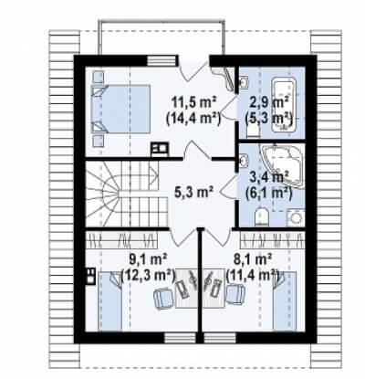 Каркасный дом №119Р2