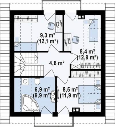 Каркасный дом №109Р5