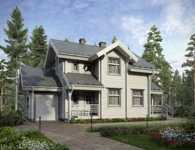 Дом из бруса №176К