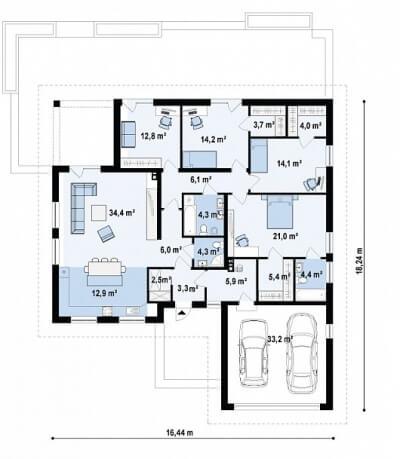 Каркасный дом №193Р3
