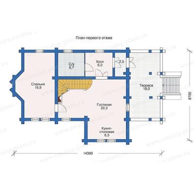 Дом из бревна №122Б