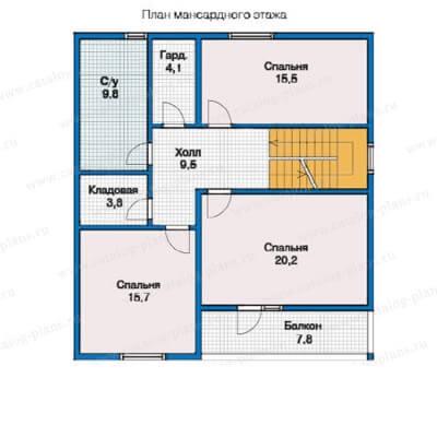 Дом из бруса №157К