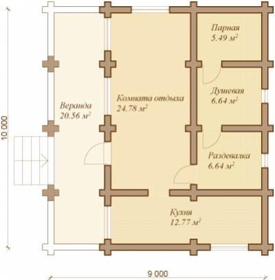 Каркасная баня №76Р