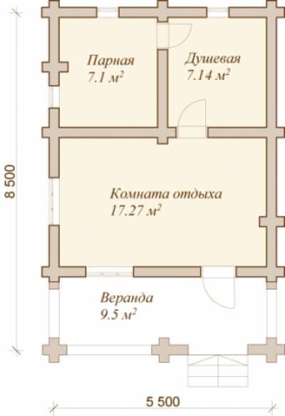 Каркасная баня №41Р