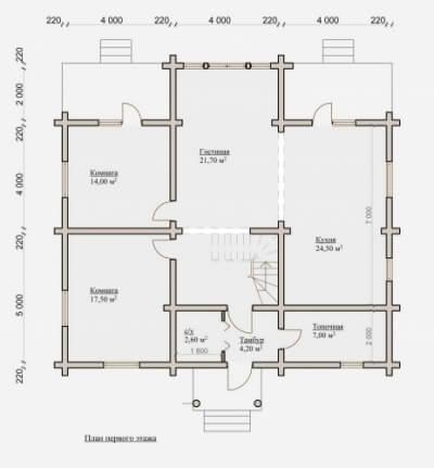 Дом из бревна №194Б