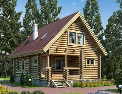 Дом из бревна №121АБ