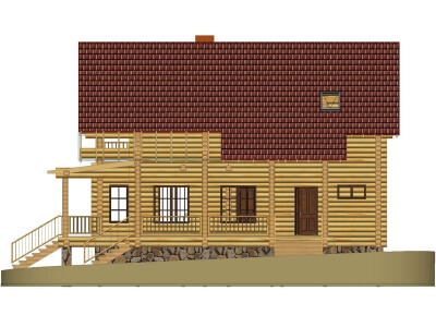 Дом из бревна №142Б