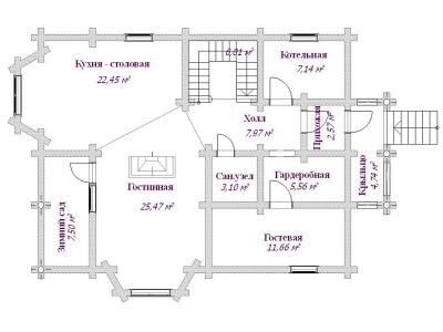 Дом из бревна №169Б