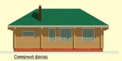 Дом из бревна №75Б