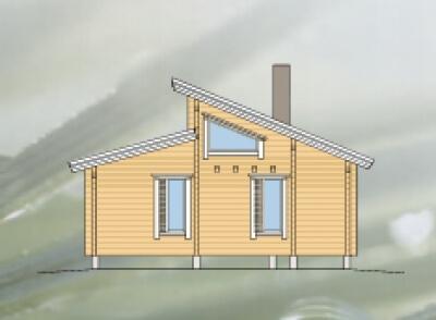 Дом из бревна №69Б