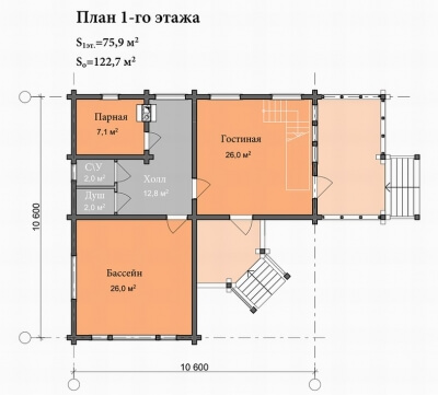 Каркасная баня №123Р