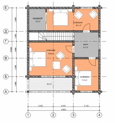 Дом из бруса №146К