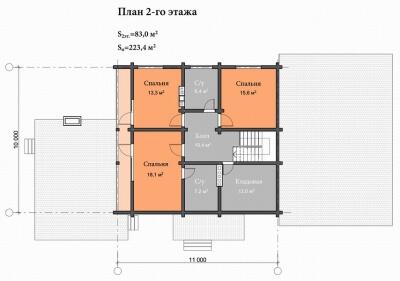 Дом из бруса №223К