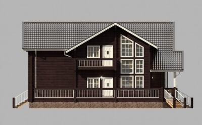 Дом из бруса №300К