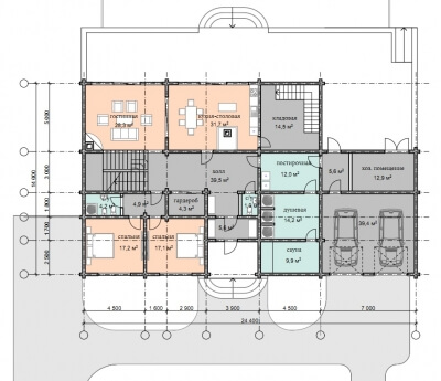 Дом из бруса №452К