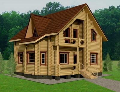 Дом из бревна №130Б
