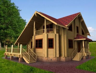 Дом из бревна №193Б