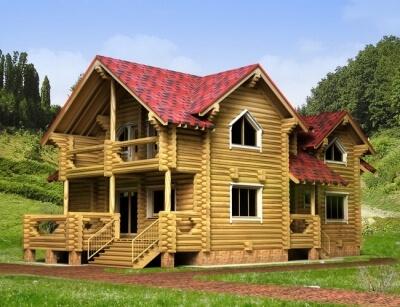 Дом из бревна №204Б