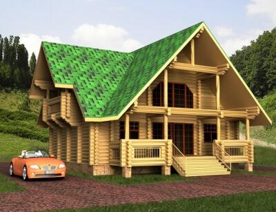 Дом из бревна №108Б