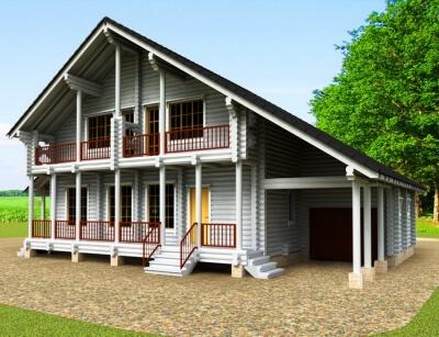 Дом из бревна №205Б