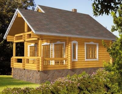Дом из бревна №75Б2