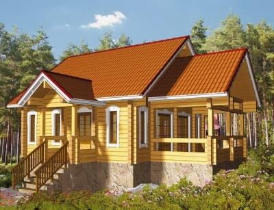 Дом из бревна №84Б2
