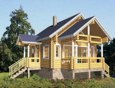 Дом из бревна №59Б