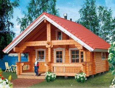 Деревянный дом №56Б2 из бревна