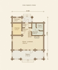 Дом из бревна №86Б