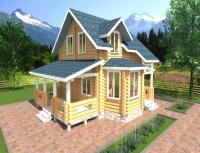 Дом из бревна №92Б2