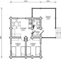 Дом из бревна №62Б