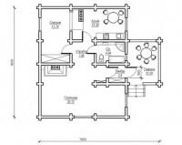 Дом из бревна №75Б3