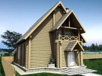 Дом из бревна №136Б