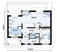 Каркасный дом №155Р2