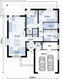 Каркасный дом №165Р3