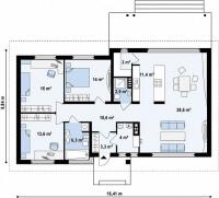 Каркасный дом №124Р
