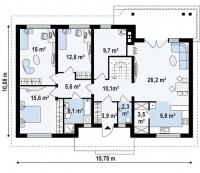 Каркасный дом №122Р3