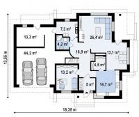 Каркасный дом №319Р