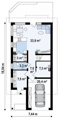 Каркасный дом №144Р