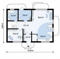 Каркасный дом №204Р2