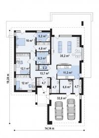 Каркасный дом №172Р