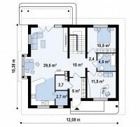 Каркасный дом №182Р2