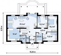 Каркасный дом №252Р2