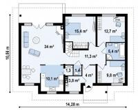 Каркасный дом №231Р2