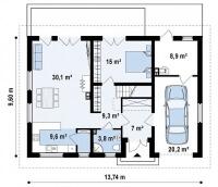 Каркасный дом №204Р3