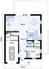 Каркасный дом №203Р