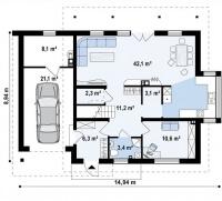 Каркасный дом №180Р3