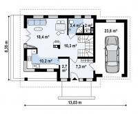 Каркасный дом №133Р